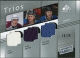 2008/09 Upper Deck SP Game Used Authentic Fabrics Trios #SSW Joe Sakic Ryan Smyth Wojtek Wolski /25