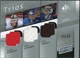 2008/09 Upper Deck SP Game Used Authentic Fabrics Trios #TKL Miikka Kiprusoff Kari Lehtonen Vesa Toskala /25