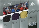 2008/09 Upper Deck SP Game Used Authentic Fabrics Trios #VKL Olaf Kolzig Kari Lehtonen Tomas Vokoun /25