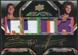 2008/09 Upper Deck UD Black Dual Rookie Jersey Autographs Patch Gold #DRLL Robin and Brook Lopez /10
