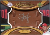 2007 Upper Deck Sweet Spot Signatures Glove Leather Silver Ink #FL Felipe Lopez /25