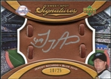 2007 Upper Deck Sweet Spot Signatures Glove Leather Silver Ink #JA Jeremy Accardo /25