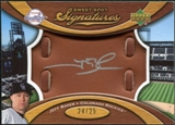 2007 Upper Deck Sweet Spot Signatures Glove Leather Silver Ink #JB Jeff Baker /25