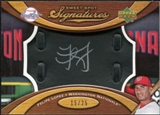 2007 Upper Deck Sweet Spot Signatures Black Glove Leather Silver Ink #FL Felipe Lopez /25