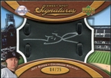 2007 Upper Deck Sweet Spot Signatures Black Glove Leather Silver Ink #JB Jeff Baker /25