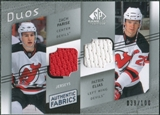 2008/09 Upper Deck SP Game Used Authentic Fabrics Duos #EP Zach Parise Patrik Elias /100