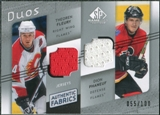 2008/09 Upper Deck SP Game Used Authentic Fabrics Duos #FP Theoren Fleury Dion Phaneuf /100