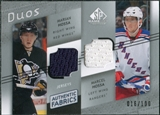 2008/09 Upper Deck SP Game Used Authentic Fabrics Duos #HH Marian Hossa Marcel Hossa /100