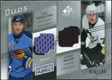 2008/09 Upper Deck SP Game Used Authentic Fabrics Duos #KM Ilya Kovalchuk Evgeni Malkin /100