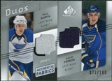 2008/09 Upper Deck SP Game Used Authentic Fabrics Duos #KP Paul Kariya David Perron /100