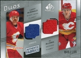 2008/09 Upper Deck SP Game Used Authentic Fabrics Duos #LA Lanny McDonald Al MacInnis /100