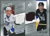 2008/09 Upper Deck SP Game Used Authentic Fabrics Duos #LS Vincent Lecavalier Martin St. Louis /100
