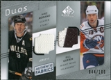 2008/09 Upper Deck SP Game Used Authentic Fabrics Duos #MG Mike Modano Bill Guerin /100