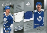 2008/09 Upper Deck SP Game Used Authentic Fabrics Duos #MS Borje Salming Lanny McDonald /100