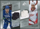 2008/09 Upper Deck SP Game Used Authentic Fabrics Duos #NH Markus Naslund Tomas Holmstrom /100