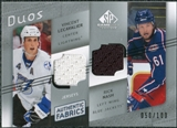 2008/09 Upper Deck SP Game Used Authentic Fabrics Duos #NL Vincent Lecavalier Rick Nash /100