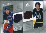 2008/09 Upper Deck SP Game Used Authentic Fabrics Duos #NS Rick Nash Martin St. Louis /100