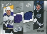 2008/09 Upper Deck SP Game Used Authentic Fabrics Duos #RN Luc Robitaille Bernie Nicholls /100