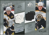 2008/09 Upper Deck SP Game Used Authentic Fabrics Duos #SL Marc Savard Milan Lucic 26/100