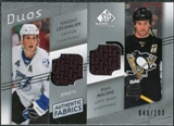 2008/09 Upper Deck SP Game Used Authentic Fabrics Duos #TM Vincent Lecavalier Ryan Malone /100