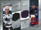 2008/09 Upper Deck SP Game Used Authentic Fabrics Duos #TN Joe Thornton Rick Nash /100