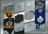 2008/09 Upper Deck SP Game Used Authentic Fabrics Duos #TR Tuukka Rask Vesa Toskala /100