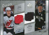 2008/09 Upper Deck SP Game Used Authentic Fabrics Duos #ZM Zach Parise Mike Modano /100