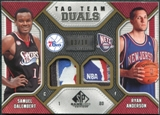 2009/10 Upper Deck SP Game Used Tag Team Dual #TDSA Ryan Anderson Samuel Dalembert /10