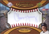2007 Upper Deck Sweet Spot Signatures Red Stitch Blue Ink #CY Chris Young /350
