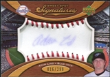 2007 Upper Deck Sweet Spot Signatures Red Stitch Blue Ink #LI Adam Lind Autograph /299