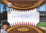 2007 Upper Deck Sweet Spot Signatures Red Stitch Blue Ink #JB Jeff Baker /299