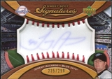 2007 Upper Deck Sweet Spot Signatures Red Stitch Blue Ink #JA Jeremy Accardo /299