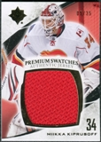 2010/11 Upper Deck Ultimate Collection Premium Swatches #PMK Miikka Kiprusoff /35