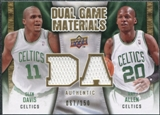 2009/10 Upper Deck Game Materials Dual Gold #DGAD Glen Davis Ray Allen /150