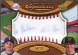 2007 Upper Deck Sweet Spot Dual Signatures Red Stitch Blue Ink #KU Ian Kinsler Dan Uggla 14/15