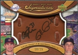 2007 Upper Deck Sweet Spot Dual Signatures Glove Leather Black Ink #LP Cliff Lee Glen Perkins /15