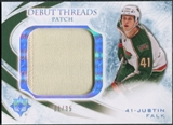 2010/11 Upper Deck Ultimate Collection Debut Threads Patches #DTJF Justin Falk /35