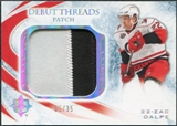 2010/11 Upper Deck Ultimate Collection Debut Threads Patches #DTZD Zac Dalpe /35