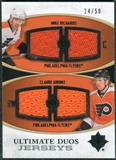 2010/11 Upper Deck Ultimate Collection Ultimate Jerseys Duos #UDJRG Mike Richards Claude Giroux /50