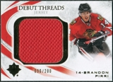 2010/11 Upper Deck Ultimate Collection Debut Threads #DTBP Brandon Pirri /200