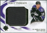 2010/11 Upper Deck Ultimate Collection Debut Threads #DTBS Brayden Schenn /200