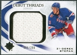 2010/11 Upper Deck Ultimate Collection Debut Threads #DTDS Derek Stepan /200