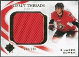 2010/11 Upper Deck Ultimate Collection Debut Threads #DTJC Jared Cowen /200