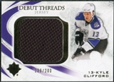 2010/11 Upper Deck Ultimate Collection Debut Threads #DTKC Kyle Clifford /200