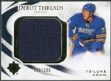 2010/11 Upper Deck Ultimate Collection Debut Threads #DTLK Luke Adam /200