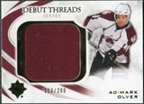 2010/11 Upper Deck Ultimate Collection Debut Threads #DTMO Mark Olver /200
