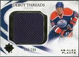 2010/11 Upper Deck Ultimate Collection Debut Threads #DTPL Alex Plante /200