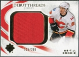 2010/11 Upper Deck Ultimate Collection Debut Threads #DTTB T.J. Brodie /200