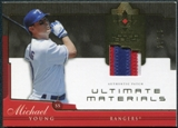 2005 Upper Deck Ultimate Collection Materials Patch #MY Michael Young 17/25