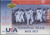 2003 Upper Deck Team USA Baseball Factory Set (Box)